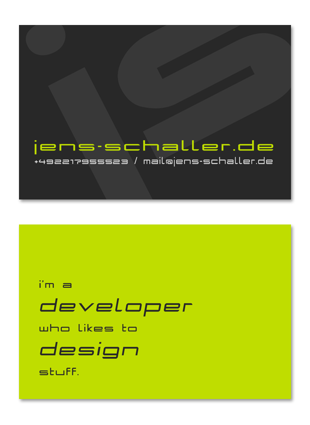 Jens Schaller - card 2012